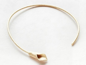 Lilly Necklace in Polished Gold Steel