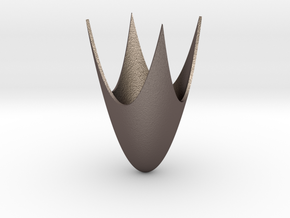 Paraboloid With Arch in Polished Bronzed Silver Steel