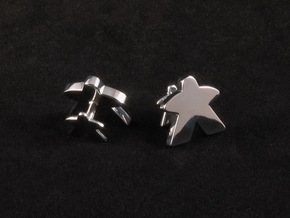 Meeple Cufflinks in Rhodium Plated