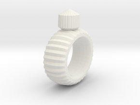 Craft Ring in White Natural Versatile Plastic