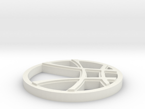 Eye Of Agamotto Top in White Natural Versatile Plastic