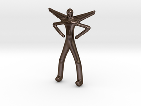 Puck the Pixie in Polished Bronze Steel