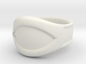 """All Seeing Eye"" Ring, Size 10, Left eye in White Natural Versatile Plastic"