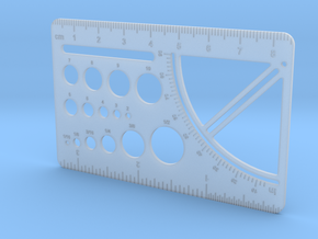 Drafting Tool Card (for Sliminal) in Smooth Fine Detail Plastic