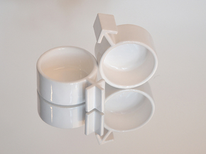 Cuple Cups (male) in White Natural Versatile Plastic