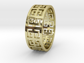 PLINIO Ring in 18k Gold Plated