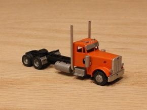 1:160 N Scale Peterbilt 379 Tractor w/ 20.5' WB in Smooth Fine Detail Plastic