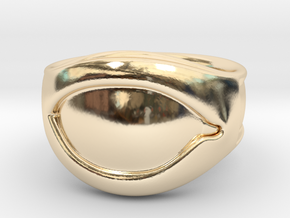 """All Seeing Eye"" Ring, Right eye in 14K Yellow Gold: 6 / 51.5"