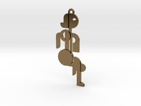 Bauhaus Lady in Polished Bronze