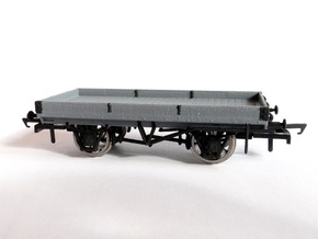 LNWR 18ft, 1 Plank Open Wagon (Diagram 103) in White Natural Versatile Plastic