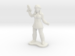 Female Security Officer in White Natural Versatile Plastic
