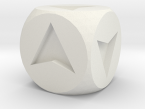 Directional Dice in White Natural Versatile Plastic
