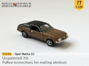 Opel Manta CC (TT 1:120) in Smooth Fine Detail Plastic
