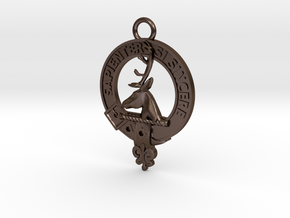 Clan Davidson key-fob in Polished Bronze Steel