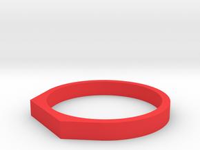 Anello Troco in Red Processed Versatile Plastic