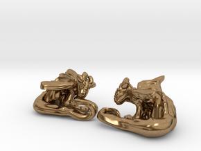 Cuddley Baby Dragons in Natural Brass