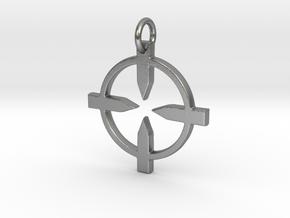 Recon Pendant in Natural Silver