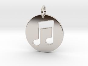 Music Note in Platinum