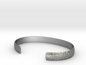 Celtic Wolf Cuff Set in Natural Silver