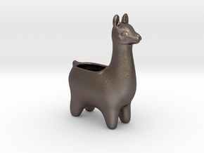 Llama Planters - Small in Polished Bronzed Silver Steel