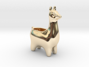 Llama Planters - Small in 14k Gold Plated Brass