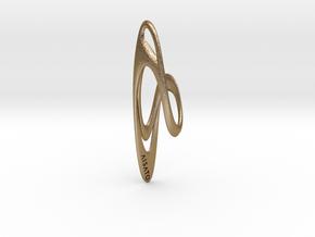 Loop Earring or Pendant top  in Polished Gold Steel
