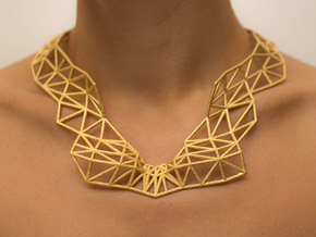 Made On You - Necklace in Polished Gold Steel