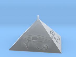 Pyramid Pendant (Engraved) in Smooth Fine Detail Plastic