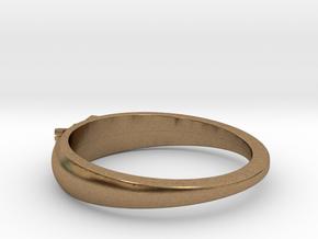 Ø0.699 inch/Ø17.75 Mm Japanese Sunrise Ring in Natural Brass