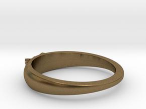 Ø0.699 inch/Ø17.75 Mm Japanese Sunrise Ring in Natural Bronze