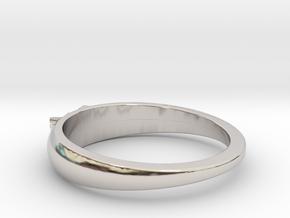 Ø0.699 inch/Ø17.75 Mm Japanese Sunrise Ring in Rhodium Plated Brass