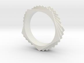 Bracelet Pentagon Twist in White Natural Versatile Plastic