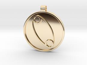 Zodiac KeyChain Medallion-CANCER in 14K Yellow Gold