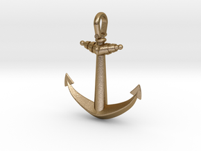 Anchor V2 (Big) in Polished Gold Steel