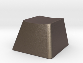 Customizable R1 MX Keycap THICK in Polished Bronzed Silver Steel