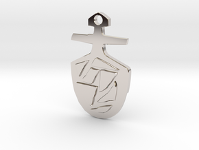 Third Doctor's T.A.R.D.I.S. Key Pendant in Rhodium Plated Brass