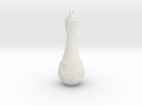 Love Potion - 50mm in White Natural Versatile Plastic