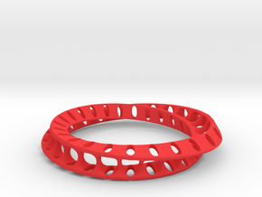 Bracelet 3 in Red Processed Versatile Plastic