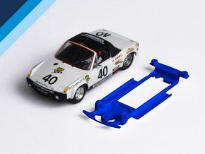 1/32 SRC Porsche 914 Chassis for Slot.it IL pod in Blue Strong & Flexible Polished