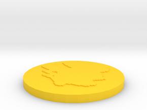Pikachu Pendant in Yellow Processed Versatile Plastic