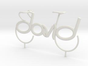 David Bicycle in White Natural Versatile Plastic