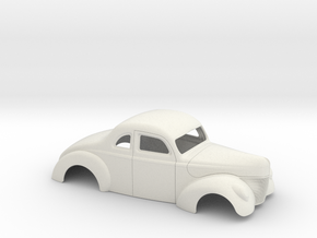 1/12 1940 Ford Coupe Stock in White Strong & Flexible