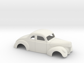 1/18 1940 Ford Coupe Stock in White Natural Versatile Plastic