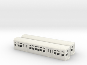 CTA 6000 Series, As-Built Flat Door Pair in White Strong & Flexible