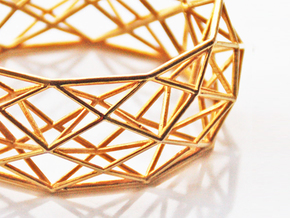 Constructionist Bracelet  in Polished Brass