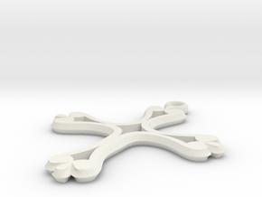 Cross Pendant of Hope in White Natural Versatile Plastic