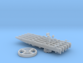 1/72 Quintuple Torpedo Mount for USN Destroyers in Smooth Fine Detail Plastic