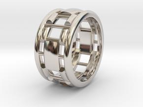 Rln0006 in Rhodium Plated Brass