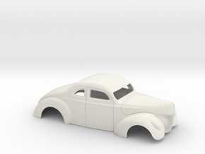 1/18 1940 Ford Coupe 3 Inch Chop in White Natural Versatile Plastic