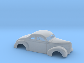 1/43 1940 Ford Coupe 3 Inch Chop in Smooth Fine Detail Plastic